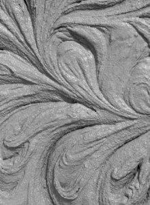 geborsteld beton